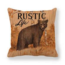 45cm * 45cm Đệm Gỗ động vật hoang dã Hươu linen/gối cotton ghế sofa và trang trí Nhà gối(China)