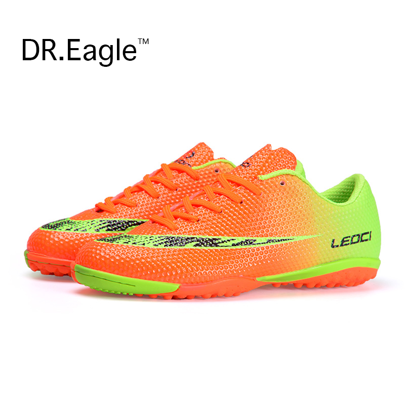 Men TF Football trainers Boots Hard Court Cleats soccer indoor man football shoes for the boy youth soccer Kids free shipping(China (Mainland))