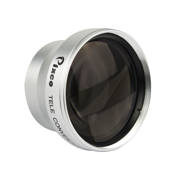Pixco 25mm 2.0X Magnification Telephoto Tele Converter Lens Suit For All Camera Lens with 25mm Filter Thread Silver(China (Mainland))