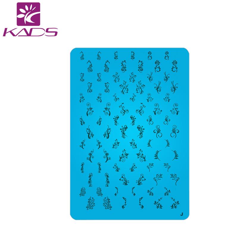KADS 1Pcs Nail Art Stamp Stamping Image Plate 6*12cm Stainless Steel Nail Template konad stamping nail art(China (Mainland))