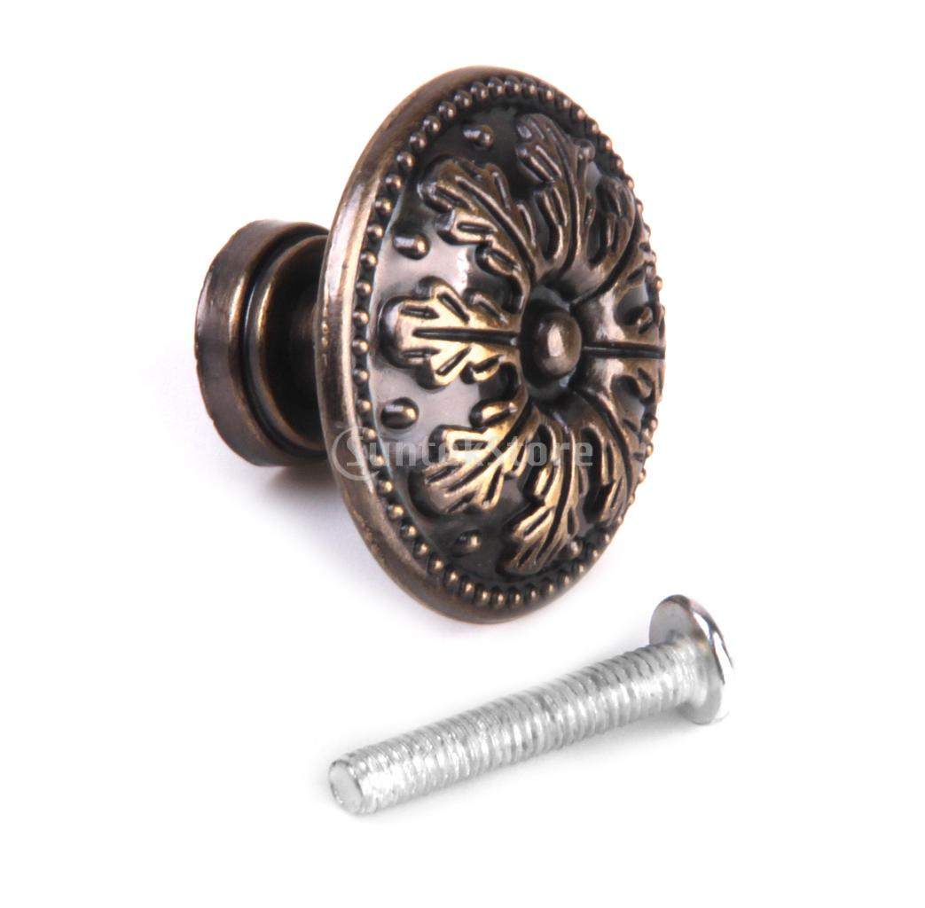 Classical round decorative cabinet door drawer pull handle for Small door knobs and handles