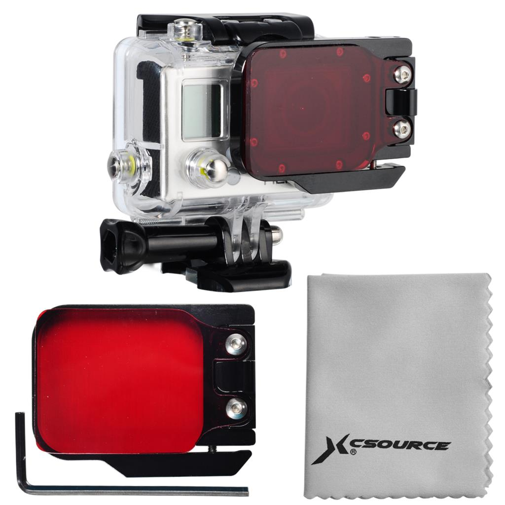 Red UnderwaterUnder Waters Sea Scuba Diving 10-20m Sea Dive Color Filter For Camera Gopro HERO 3 LF384(China (Mainland))