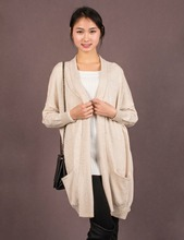 2016 Spring Style Women Solid Color Long Style Pus Size Casual Knitted Cardigan Sweater of Oversize Scarf Collar Drop shoulder(China (Mainland))