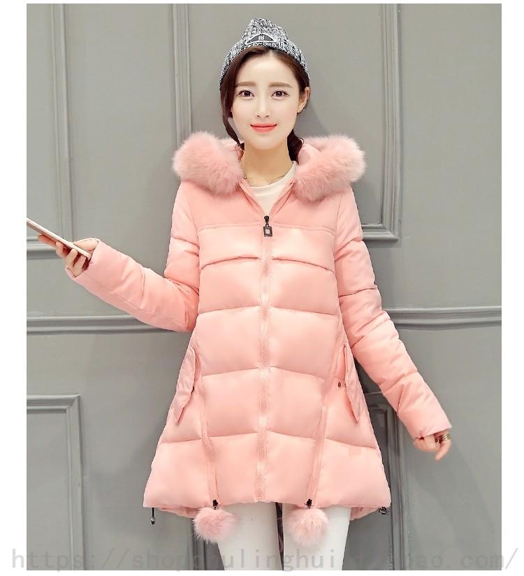 Yeni tatlı kalın gevşek pelerin tüy yastıklı womens Ceketler uzun bölüm kelime Nagymaros yaka ceket