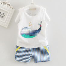 Buy 2017 Summer 2pcs Toddler Baby Boys Tracksuits Children Cartoon Sports Suits Kids Sleeveless Vest + Striped shorts Clothes Outfit for $4.18 in AliExpress store