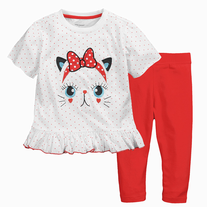 Free Shipping 6sets/lot Little Maven 18M-6T Baby Girls T-shirt and Legging Set 0113<br><br>Aliexpress