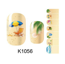 summer style nail art sticker decorations beauty manicure full cover stickers for nails K1056 fingernail stickers