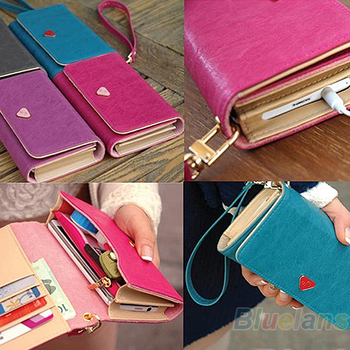 Envelope Card Wallet Leather Purse Case Cover Bag For Samsung Galaxy S2 S3 S4 i9500 for Iphone4g  1J8I