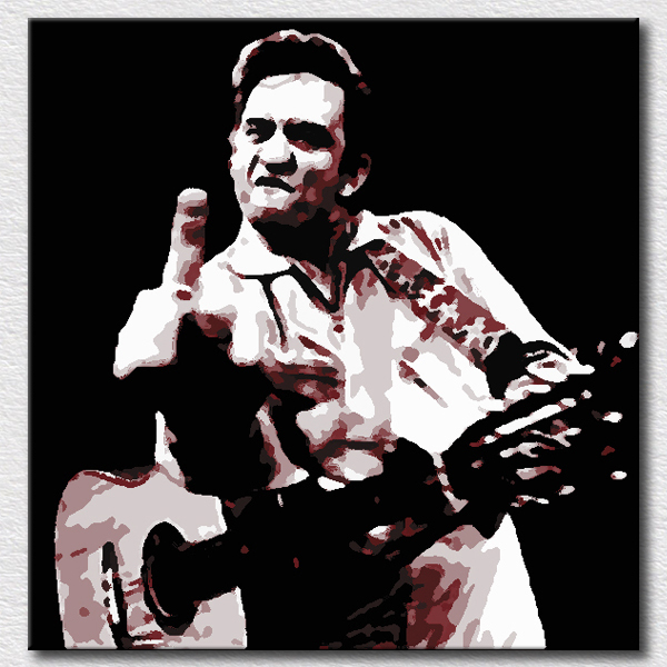 Wallpaper canvas painting Johnny Cash picture oil painting on canvas wall decoration gift for kids bedroom(China (Mainland))