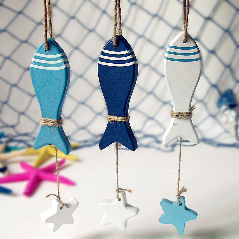 Mediterranean adornment series/fish + starfish chain/wall act the role ofing pendant + free shipping(China (Mainland))