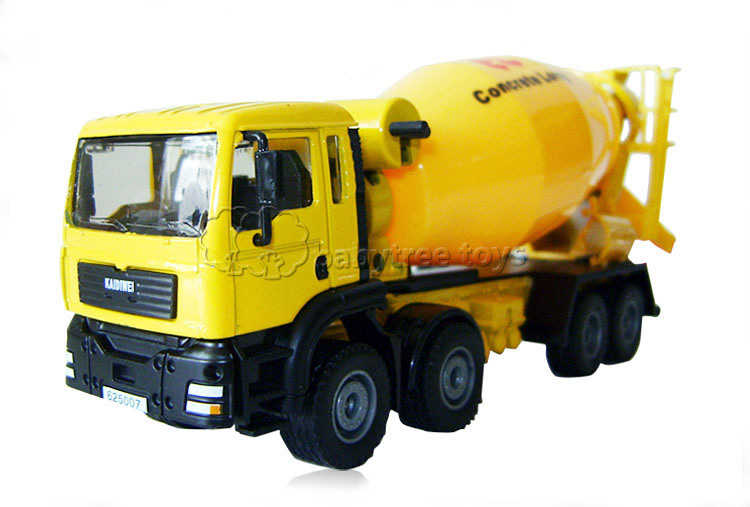 Good Quality KDW 1:50 Scale Diecast Cement Mixer Cars Miniatures Model Toy Cars Hobbies classic Model Car(China (Mainland))
