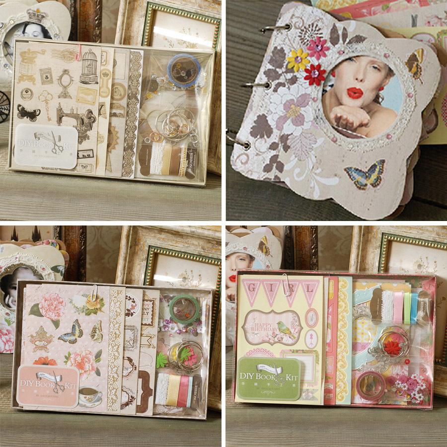 diy photo album vintage chipboard album kit 3 ring binder scrapbooking album for gift 3designs. Black Bedroom Furniture Sets. Home Design Ideas