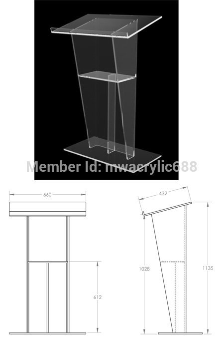 pulpit furniture Free Shipping Beautiful Sophistication Price Reasonable Cheap Acrylic Podium Pulpit Lectern acrylic podium(China (Mainland))