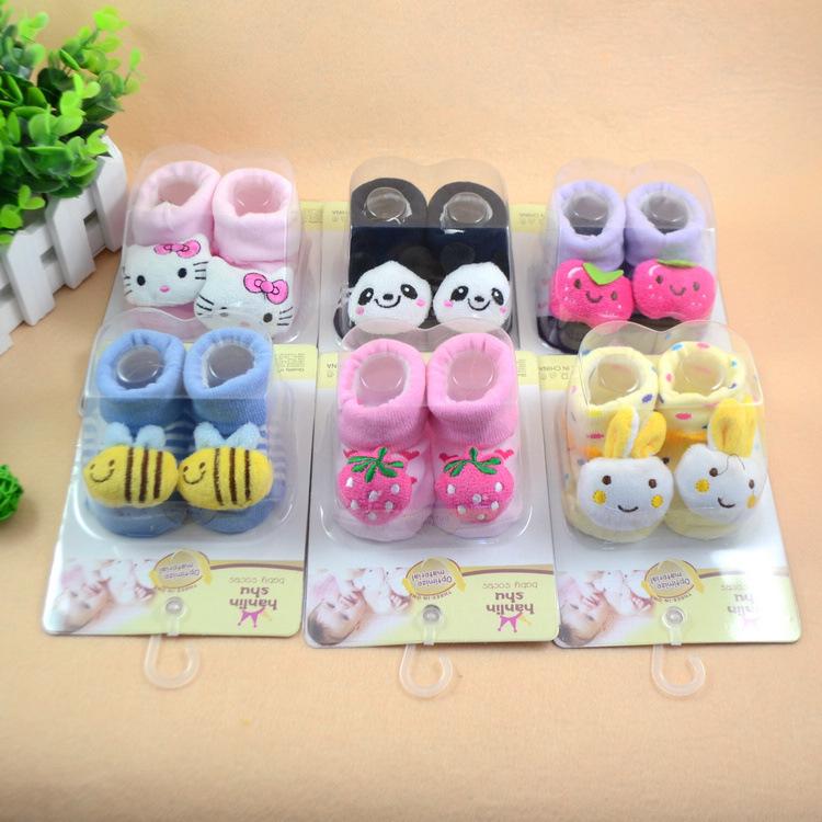 Baby Socks Cartoon Anti Slip 3d Socks Baby girl cotton toddler socks infant  boy Animal Cartoon sokken new born meias chaussette