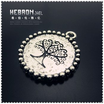 Free shipping(250pieces)Silver Jewelry Tree Pendant(3313#)wholesale and retail Fashion Jewelry Accessory/Pendant Accessory