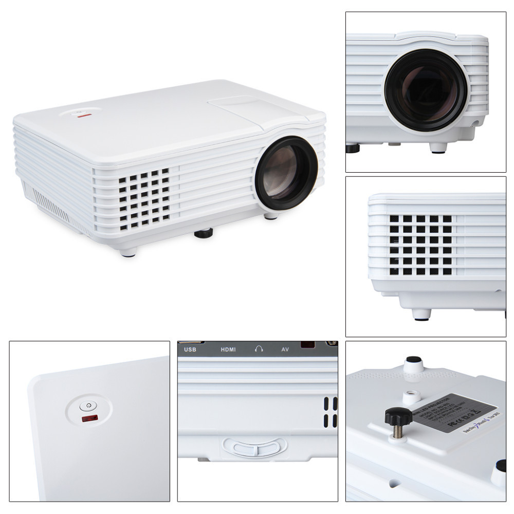 Latest 2000lumens led mini projector rd805 hdmi 3d for Top rated pocket projectors