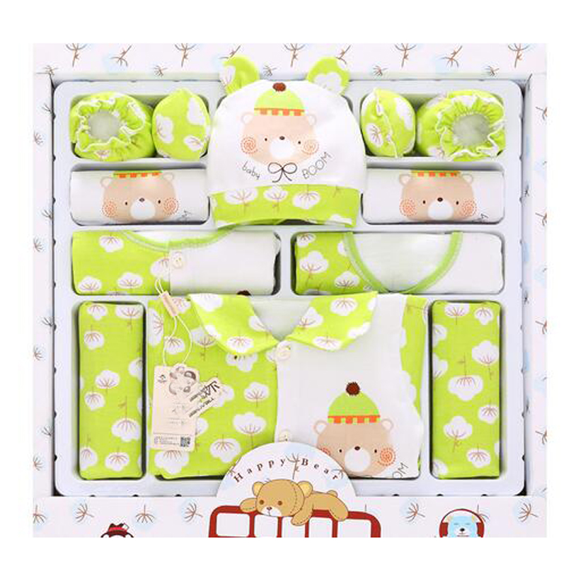 Newset 2016 than 99% cotton spring fall newborn baby clothing sets 16pcs infants suit baby girls boys clothes sets free shipping(China (Mainland))