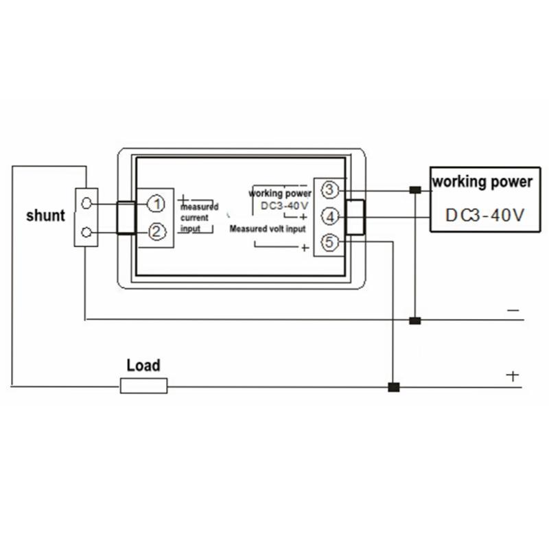 wholesale dc 0 600v 50 0a digital dual display ammeter voltmeter dc rh dhgate com