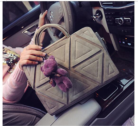 Bolsa De Ombro Masculina Vintage : Nova mulheres sacos de moda patchwork bloco da cor do