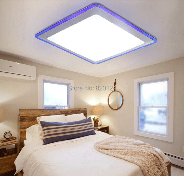 Super bright 38w square led ceiling light2 sections dimmable 38w f 9g aloadofball Choice Image
