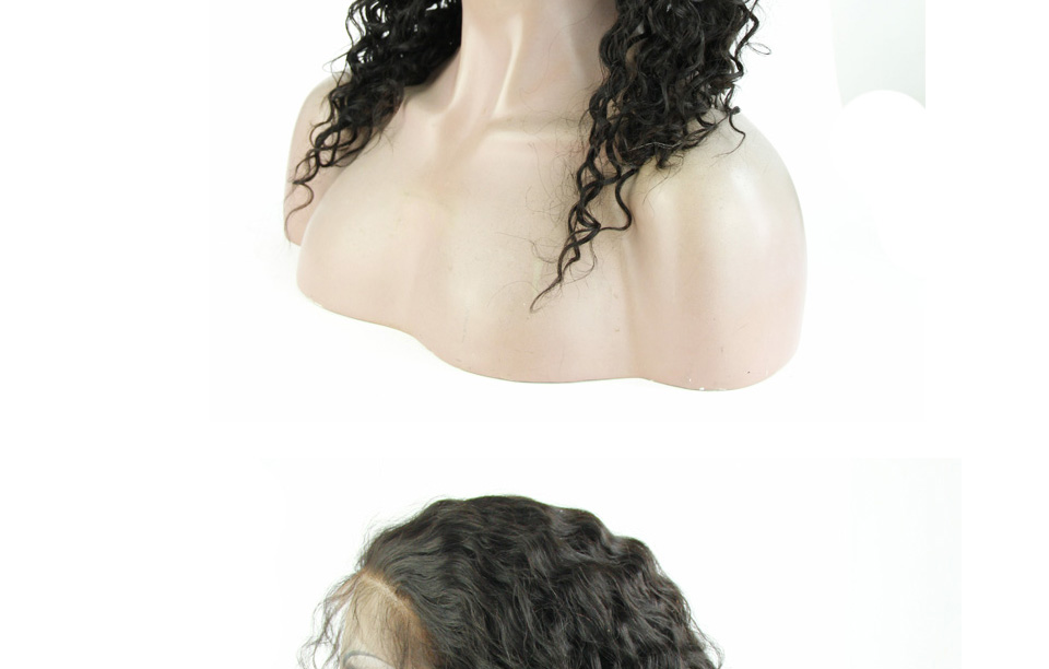 8A Glueless Full Lace Human Hair Wigs Peruvian Virgin Hair Loose Curly Lace Front Human Hair Wigs For Black Women With Baby Hair
