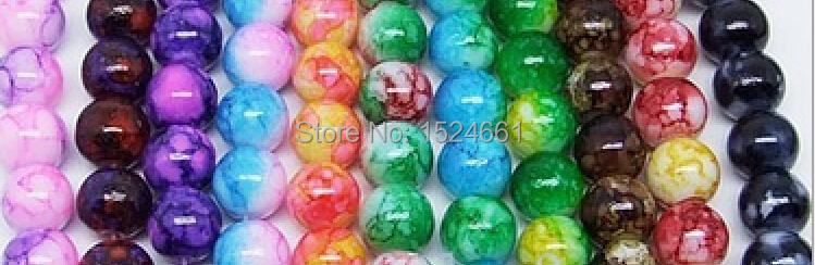 4 New Arrival 8MM 100pcs/lot Round Assorted Colorful Glass Beads(China (Mainland))