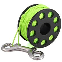 30m 6 Colors Hot Sale High Quality EZDIVE GL30 Polyurethane Coated Nylon Scuba Diving Finger Spool Reels with Double Ended Snap(China (Mainland))