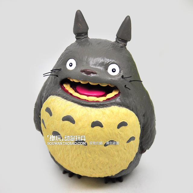 free shipping, Classic large totoro resin hand-done doll decoration
