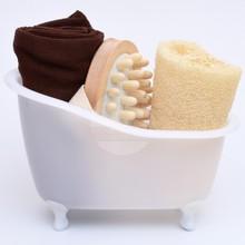 LEECO BATHROOM GOODS STORE NEW ARRIVAL Loofah sponge spa massager towel bathroom mini bathtub bath set Bathroom Storage sets (China (Mainland))