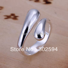 R12 Christmas gift free shipping wholesale jewelry Simple Open 925 silver ring high quality fashion classic jewelry