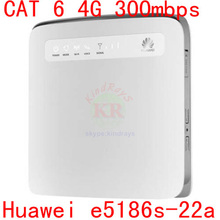 Cat6 LTE 4 g 400 mbps desbloqueado Huawei router wi fi E5186s-22 e5186 LTE FDD 4 g mifi móvel dongle pk E5175 b593 b890 b880 b870