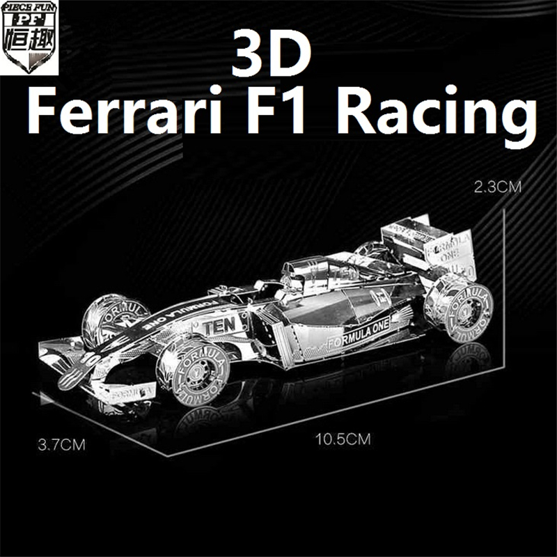 New Listing 3D Metal Puzzle For F1 Racing Model DIY Brain Puzzles metalic Cars Boats jigsaw High quality model gifts(China (Mainland))
