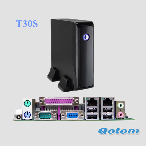 QOTOM Mini PC with serial and parallel port, 2GB/ 4GB RAM, 32G/64G/128G SSD, support 2.5 inch SATA HDD, x86 tiny computer Linux(China (Mainland))