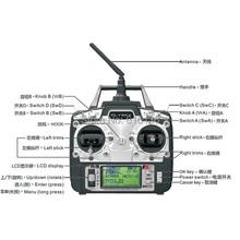 Flysky FS-T6 FS T6 6ch 2.4G W/ LCD Screen Transmitter + FS R6B Receiver For Heli Plane