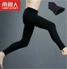 Autumn Winter plus cashmere New Men Warm Pants Brushed Leggings Velvet Long Johns Elastic Tights Underwear Trousers(China (Mainland))