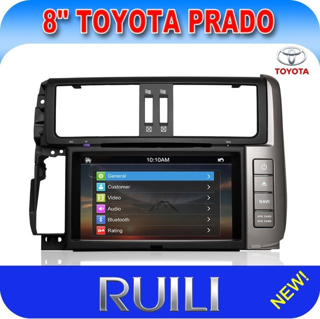 Professional 8 inch Toyota New Prado Car DVD with GPS/Radio/RDS