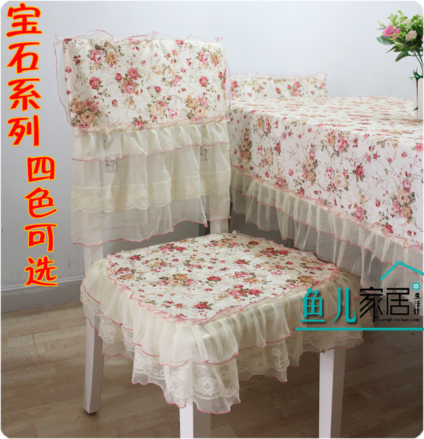 Rustic cotton fabric chair pad table cloth tablecloth dining table cloth chair cover cushion dining chair set - gem series