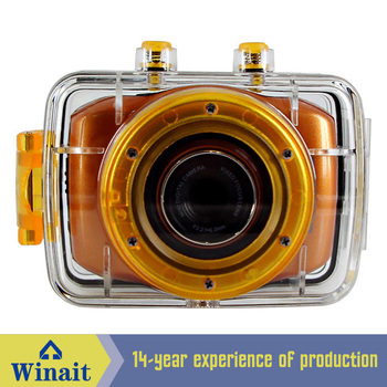 Free shipping 5MP 720P HD digital video camera, digital camera with 2inch touch screen, waterproof case and multi colors