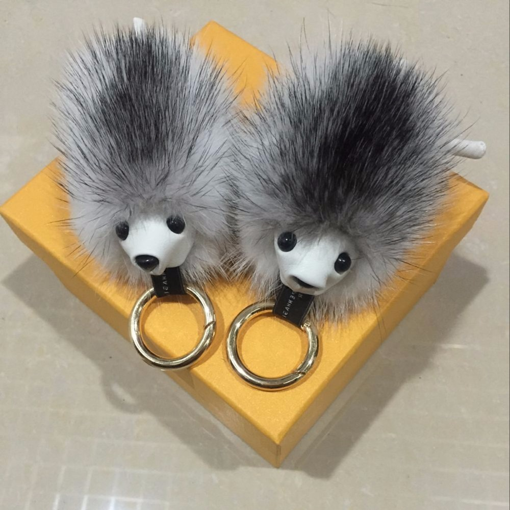 2016 new fur accessories, mink key chain, hedgehog modeling bag pendant phone accessories, car key ring, real fur creative gifts(China (Mainland))