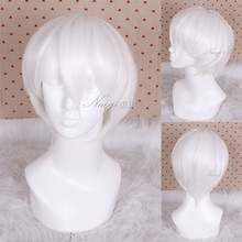 30CM Movie Anime Jonah Hair Men Short White Cosplay Wig no Lace Front Hair wigs<br><br>Aliexpress