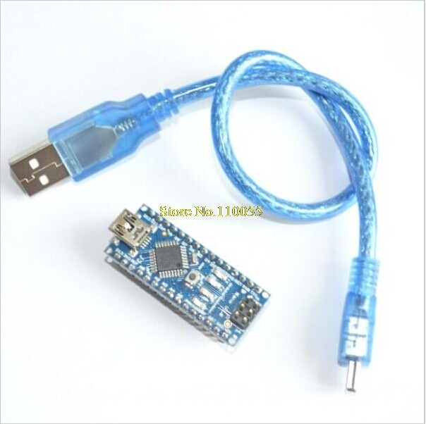 Freeshipping ! Nano 3.0 controller compatible with arduino nano CH340 USB driver with CABLE NANO V3.0(