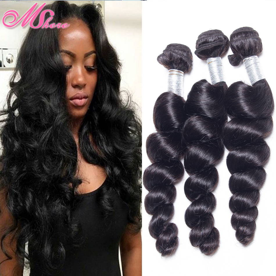 Her Imports Indian Virgin Hair Loose Wave 4 Bundles Indian Hair Weave Bundles Human Hair Indian Loose Wave Aliexpress Rosa Hair(China (Mainland))