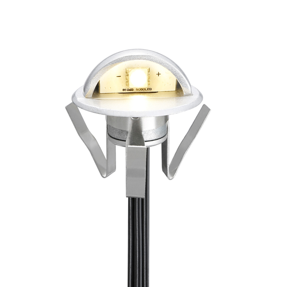 FVTLED Pack of 10 Low Voltage LED Deck lights kit Outdoor Garden Park Wall Decoration Floor Lamp Recessed Step Stair Lighting(China (Mainland))