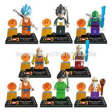 DLP9007 Building Block Super Heroes Dragon Ball Z Minifigures Son Goku Vegeta Master Roshi With Ball Bricks Figures Toys
