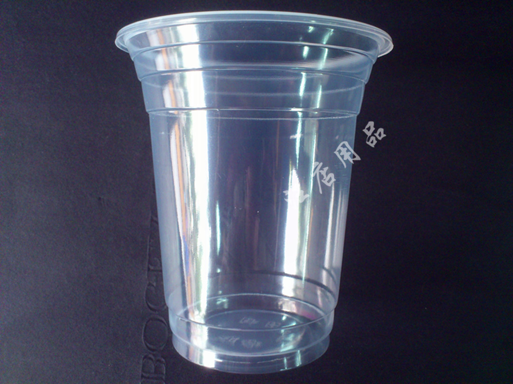 free shipping,for(1000 pieces/lot) Disposable plastic cup 420ml pearl milk tea coffee cold drink cup transparent 7g(China (Mainland))