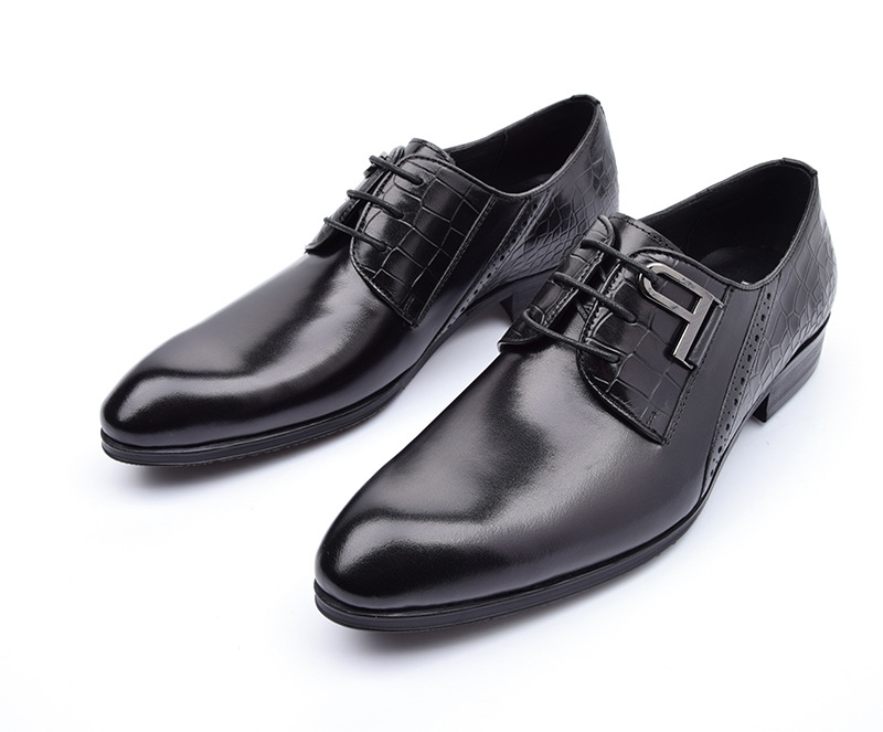 2016 luxury brand business dress mens shoes real leather top quality comfortable formal men shoe for wedding basic flats z622(China (Mainland))