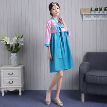 2016 חדש Hanbok קוריאני נשים הלבשה גבירותיי Hanbok קוריאני קיץ הקוריאני מסורתית קוריאנית בגדים מסורתיים(China)