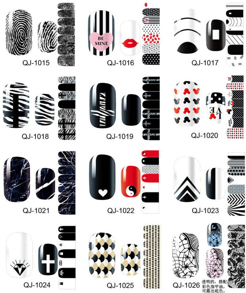 Beautiful Nail Art Sticker Patch Foil Adhesive French manicure Nail Sticker Decor Tools Cover Nail Wraps Decals BUY 3 GET 4(China (Mainland))