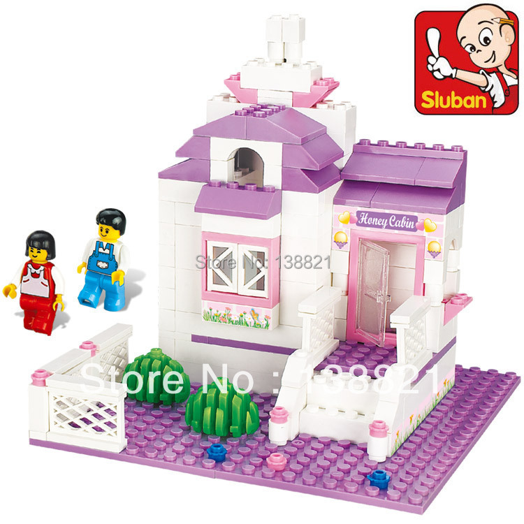 Educational DIY Toys children Sluban Building Blocks sweet cottage girl self-locking bricks Compatible Lego - zhichao shaw's store