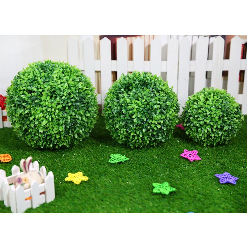 3 tama o plantas bonsai artificial de pl stico bola de for Plantas decorativas de plastico
